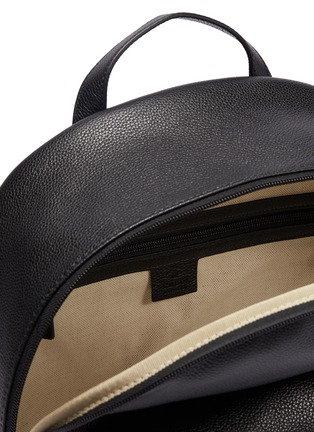 Detail View - Click To Enlarge - GUCCI - Logo print leather backpack