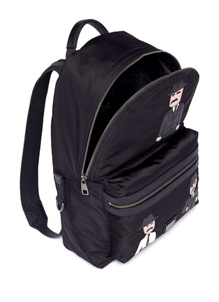 Detail View - Click To Enlarge - Dolce & Gabbana - ''Vulcano' Sicilian man appliqué nylon backpack