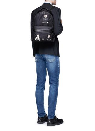 Figure View - Click To Enlarge - - - ''Vulcano' Sicilian man appliqué nylon backpack