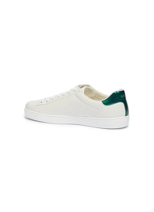 - GUCCI - New Ace' slogan print leather sneakers