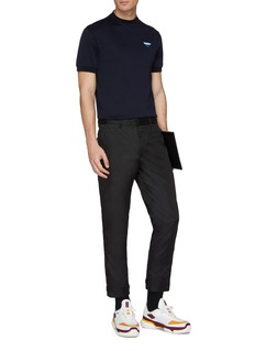 Prada Logo patch slim fit T-shirt