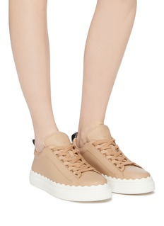 Chloé 'Lauren' scalloped midsole leather sneakers