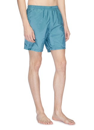 Front View - Click To Enlarge - Prada - Logo patch swim shorts