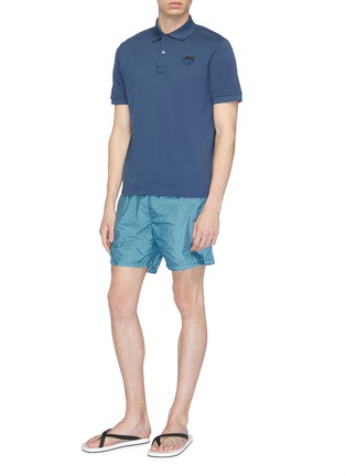 Figure View - Click To Enlarge - Prada - Logo patch swim shorts