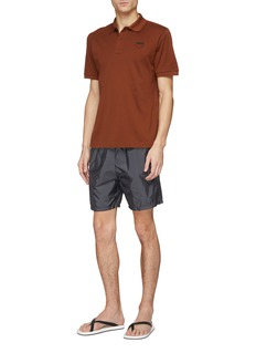 Prada Logo patch swim shorts
