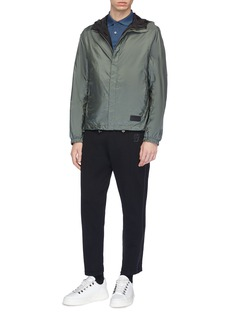Prada Reversible hooded windbreaker jacket