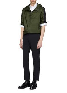 Prada Stripe sleeve hooded windbreaker jacket