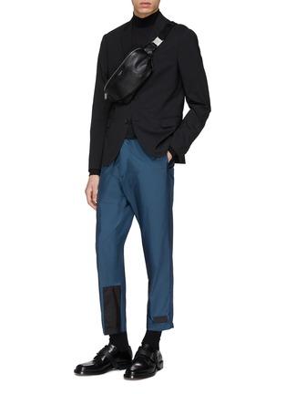 7501328f9859 Figure View - Click To Enlarge - Prada - Colourblock cuff jogging pants