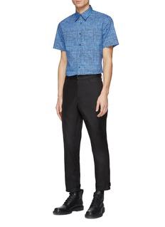 Prada Check plaid short sleeve shirt