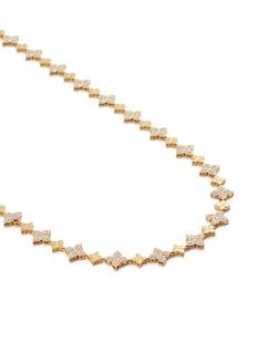 Roberto Coin 'Princess Flower' diamond 18k yellow gold necklace