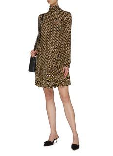 Prada Geometric print turtleneck dress