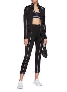 Y-3 Contrast piping stripe outseam cropped track pants