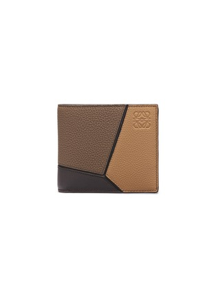 Main View - Click To Enlarge - LOEWE - 'Puzzle' colourblock leather bifold wallet