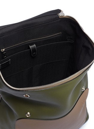 Detail View - Click To Enlarge - Loewe - 'Goya' colourblock leather backpack