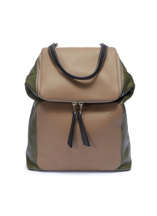 Main View - Click To Enlarge - Loewe - 'Goya' colourblock leather backpack