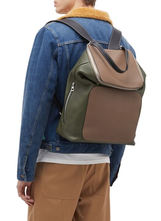 Figure View - Click To Enlarge - Loewe - 'Goya' colourblock leather backpack