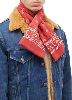 LOEWE Bandana print padded bandana scarf