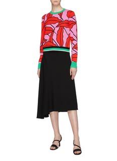 Diane von Furstenberg 'Paskavan' leaf intarsia sweater