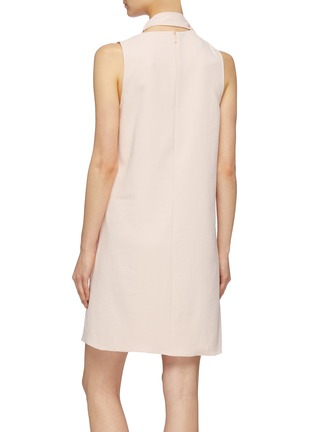 Back View - Click To Enlarge - Tibi - Tie cutout neck dress