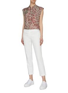 BARENA 'Miriana' abstract print silk sleeveless blouse