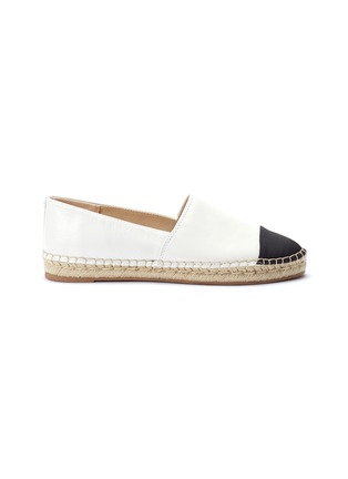 Main View - Click To Enlarge - SAM EDELMAN - 'Krissy' contrast toe leather espadrilles