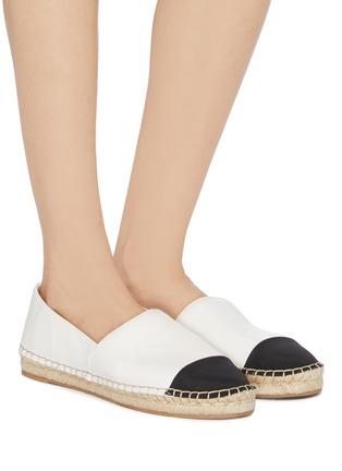 Figure View - Click To Enlarge - SAM EDELMAN - 'Krissy' contrast toe leather espadrilles