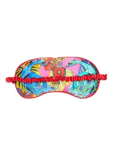 Jessica Russell Flint 'P' alphabet graphic print silk eye mask