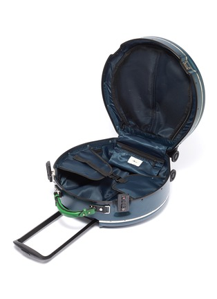 Detail View - Click To Enlarge - OOKONN - Interchangeable handle round carry-on spinner suitcase –Dark Green/Green