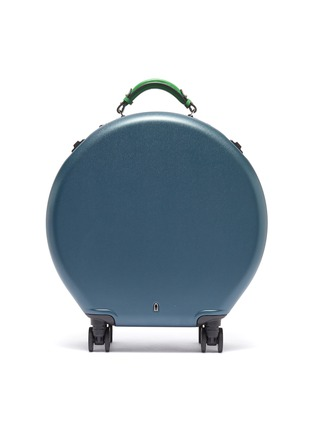 Main View - Click To Enlarge - OOKONN - Interchangeable handle round carry-on spinner suitcase –Dark Green/Green