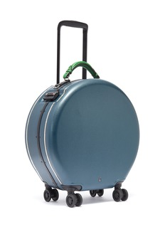 OOKONN Interchangeable handle round carry-on spinner suitcase – Dark Green/Green