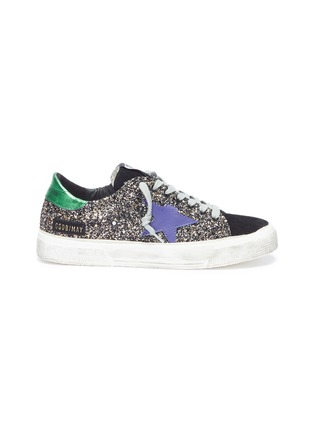 Main View - Click To Enlarge - Golden Goose - 'May' glitter coated leather sneaker