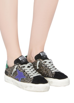 Figure View - Click To Enlarge - Golden Goose - 'May' glitter coated leather sneaker