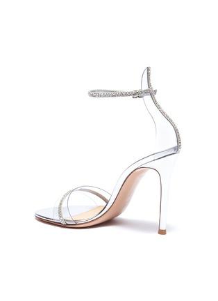- GIANVITO ROSSI - Strass ankle strap PVC sandals