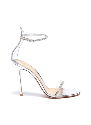 Main View - Click To Enlarge - GIANVITO ROSSI - Strass ankle strap PVC sandals