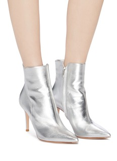 Gianvito Rossi 'Levy 85' metallic leather ankle boots