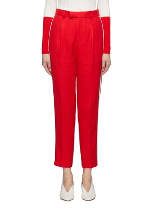 Main View - Click To Enlarge - COMME MOI - Stripe outseam twill suiting pants