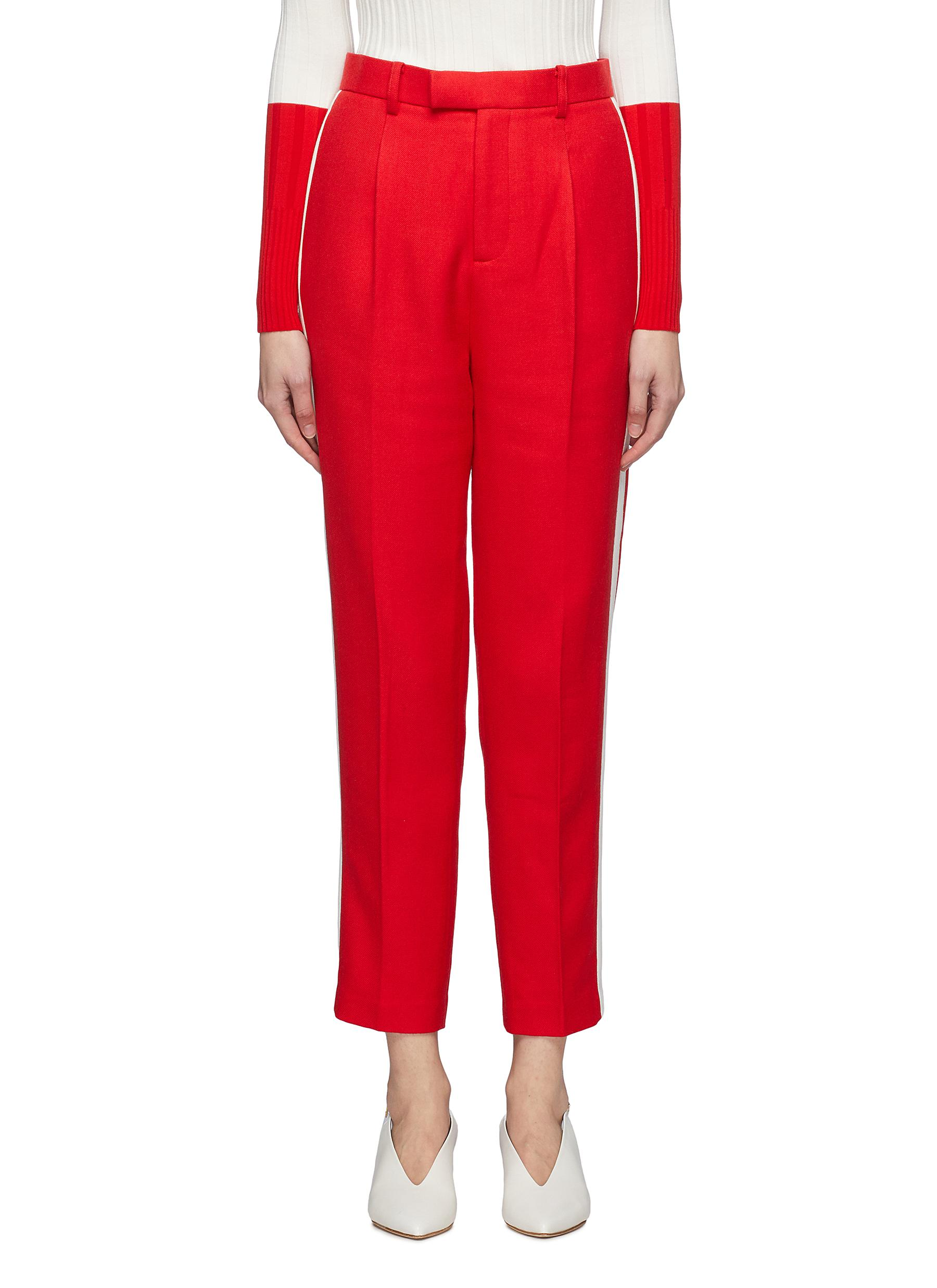 Stripe outseam twill suiting pants by Comme Moi