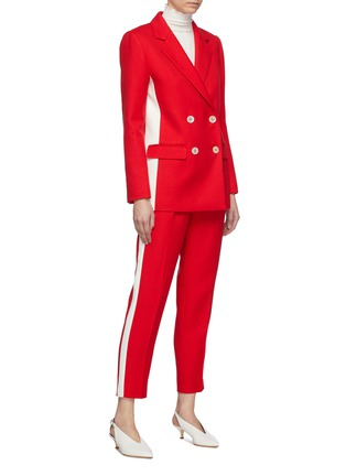 Figure View - Click To Enlarge - COMME MOI - Stripe outseam twill suiting pants