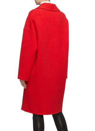 Back View - Click To Enlarge - COMME MOI - Button wool-cashmere melton coat