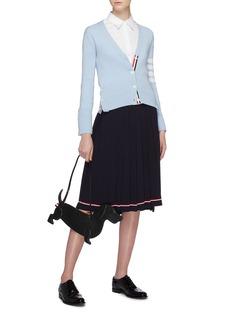 Thom Browne Stripe hem pleated knit skirt