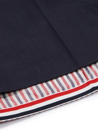 - Thom Browne - Stripe underlay wool shorts