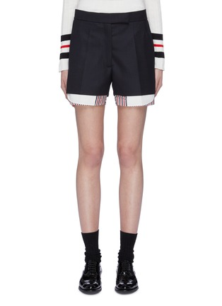 Main View - Click To Enlarge - Thom Browne - Stripe underlay wool shorts