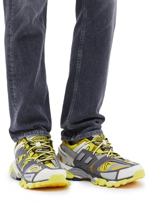 Figure View - Click To Enlarge - BALENCIAGA - 'Track' caged patchwork sneakers