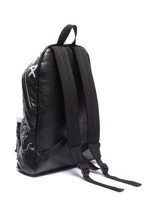 Detail View - Click To Enlarge - BALENCIAGA - 'Explorer' graffiti print leather backpack