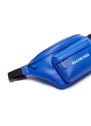 - Balenciaga - 'Everyday' logo print leather bum bag