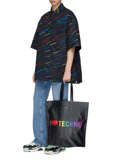 Balenciaga 'Supermarket Shopping' slogan print large leather tote