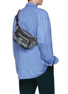 Balenciaga 'Explorer' graffiti print leather belt bag