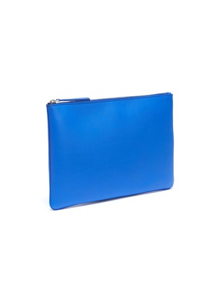 Detail View - Click To Enlarge - BALENCIAGA - 'Everyday' logo print medium leather pouch