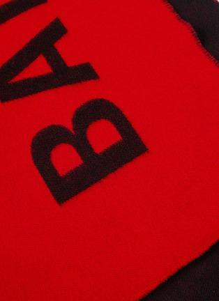 Detail View - Click To Enlarge - Balenciaga - Logo jacquard scarf