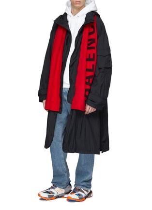 Figure View - Click To Enlarge - Balenciaga - Logo jacquard scarf